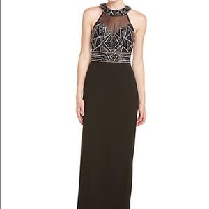 Sue Wong full-length beaded dress